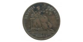 Jeton Huissiers et Commissaires Priseurs Louis XV Cuivre