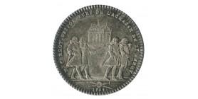 Jeton Corporation Corroyeurs Porteurs de la Chasse de St Merry Louis XVI Argent