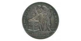 Jeton Assemblée du Clergé Le Dénuement des Couvents Louis XV Argent