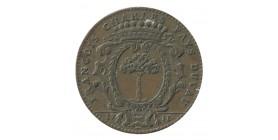 Jeton Noblesse d'Anjou François Charles Pays du Vau Maire d'Angers Cuivre
