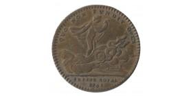Jeton Trésor Royal Louis XV Cuivre