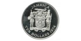 10 Dollars -Jamaïque Argent