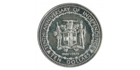 10 Dollars - Jamaïque Argent