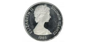 10 Dollars Elisabeth II - Iles Salomon Argent