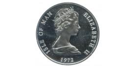 25 Pence Elisabeth II Ile de Man Argent