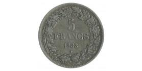 5 Francs Leopold Ier Tête Laurée - Belgique Argent
