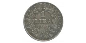 1 Lire Pie IX Buste Large - Vatican Argent
