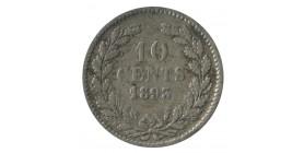10 Cents Wilhemine Tête Jeune - Pays Bas Argent