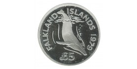 5 Livres Elisabeth II - Iles Falkland Argent