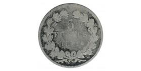 5 Francs Louis-Philippe Ier Tête Laurée Tranche En Relief