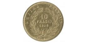 10 Francs Napoléon III Tête Nue