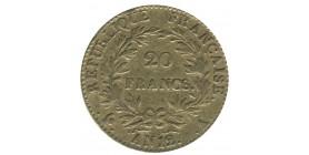 20 Francs Bonaparte 1er Consul