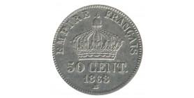 50 Centimes Napoléon III Tête Laurée Second Empire