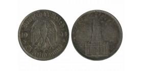 5 Reichsmark Eglise Allemagne Argent