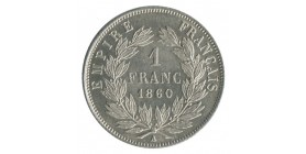1 Franc Napoléon III Tête Nue Second Empire