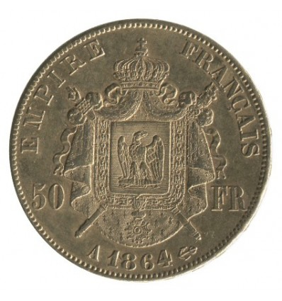 50 Francs Napoléon III Tête Laurée