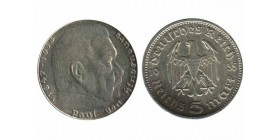 5 Reichsmark Hindenbourg Allemagne Argent