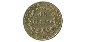 40 Francs Napoléon Ier Tête Nue Calendrier Grégorien