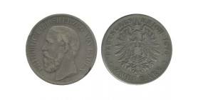 2 Marks Frederic Ier Allemagne Argent - Bade
