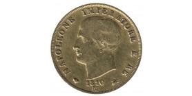 40 Lires Napoléon Imperator Tranche En Creux - Italie Occupation Française