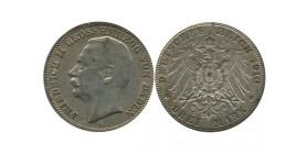 3 Marks Frederic II Allemagne Argent - Bade