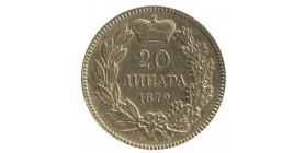 20 Dinars Milan Ier - Serbie