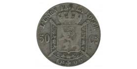 50 Centimes Leopold II Légende Française - Belgique Argent