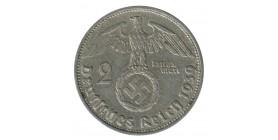 2 Reichsmark S. Hindenbourg - Allemagne Argent