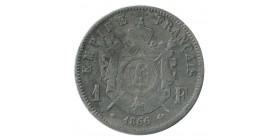 1 Franc Napoléon III Tête Laurée Second Empire