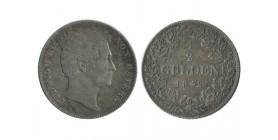 1/2 Gulden Louis I allemagne argent - baviere