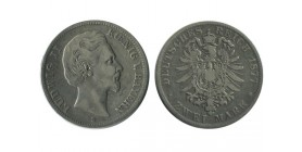 2 Marks Louis II Allemagne Argent - Baviere