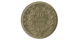 20 Francs Napoléon III Tête Nue