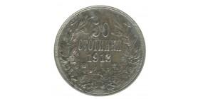 50 Stotinki Ferdinand Ier Bulgarie Argent