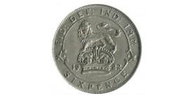 6 Pence Georges V Grande Bretagne Argent