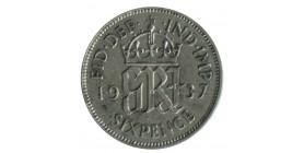 6 Pence Georges VI Grande Bretagne Argent