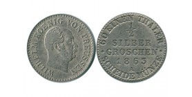 1/2 Silber Groschen Guillaume Ier Allemagne Argent - Prusse