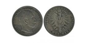 2 Marks Guillaume Ier Allemagne Argent - Prusse