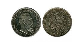 2 Marks Frederic III allemagne argent - prusse