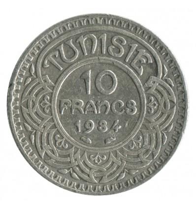 10 Francs - Tunisie Argent