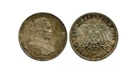 3 Marks Guillaume II Allemagne Argent - Prusse