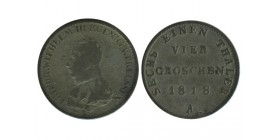 4 Groschen F. Guillaume III Allemagne Argent - Prusse