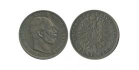 5 Marks Guillaume Ier Allemagne Argent - Prusse