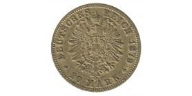 20 Marks Guillaume Ier - Allemagne Prusse