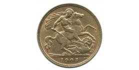 1/2 Souverain Edouard VII - Grande Bretagne