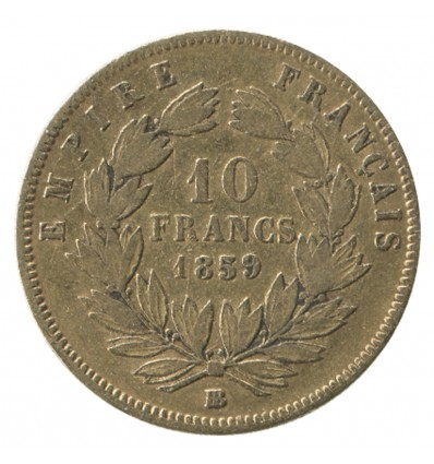 10 Francs Napoléon III Tête Nue Grand Module