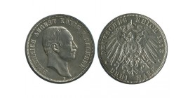 3 Marks Frederic Auguste III Allemagne Argent - Saxe
