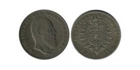 2 Marks Charles Ier Allemagne Argent - Wurtenberg