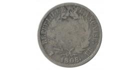 1 Franc Napoléon Ier Tête Laurée Revers République