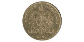 4 Florins / 10 Francs François Joseph Ier - Autriche
