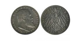 3 Marks Guillaume II Allemagne Argent - Wurtenberg